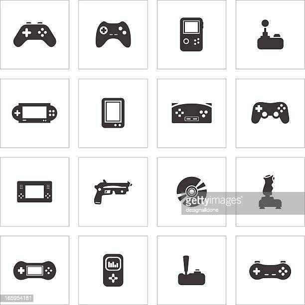 video game icons - joystick stock illustrations, clip art, cartoons, & icons