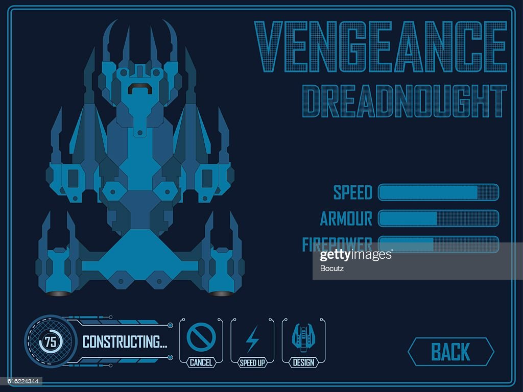 Video game space ship : Vektorgrafik