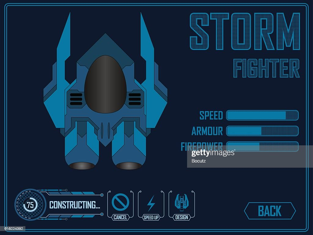 Video game space ship : Vektorgrafik