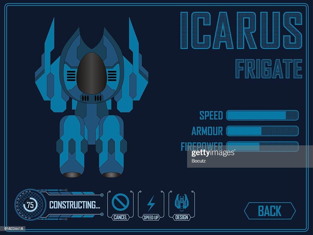 Video game space ship : Vectorkunst