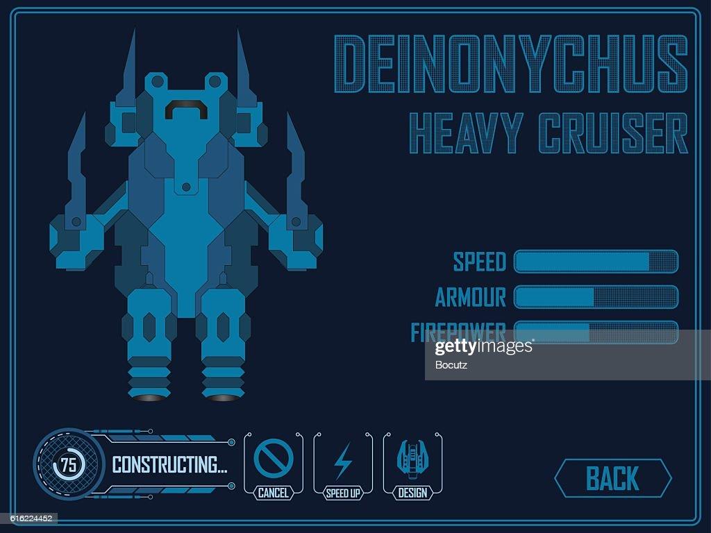 Video game space ship : Vector Art