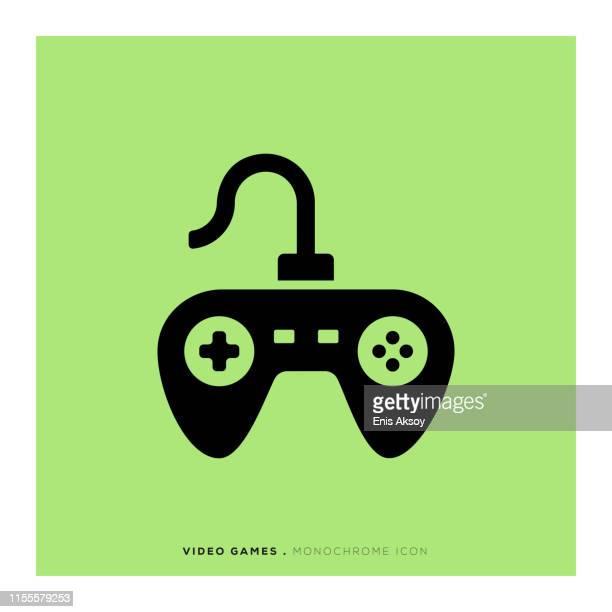 video games icon - joystick stock illustrations, clip art, cartoons, & icons
