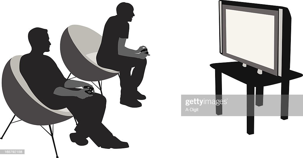 Video Games Vector Silhouette Vector Art Getty Images