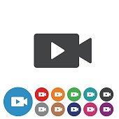 Video Icons Set - Graphic Icon Series