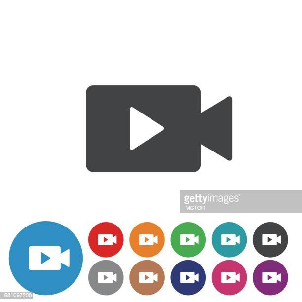 video icons set - graphic icon series - video camera stock illustrations, clip art, cartoons, & icons