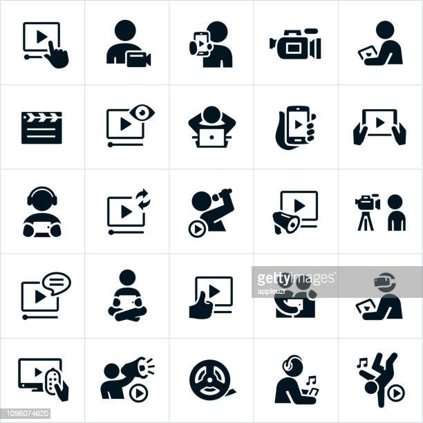 video icons - video camera stock illustrations, clip art, cartoons, & icons
