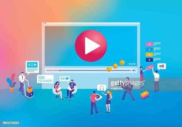 concept de de marketing vidéo
