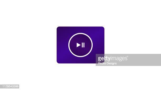 ilustraciones, imágenes clip art, dibujos animados e iconos de stock de icono de juego de video, reproductor de música - rollo de cine