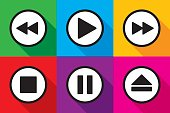Video Playback Icons Set