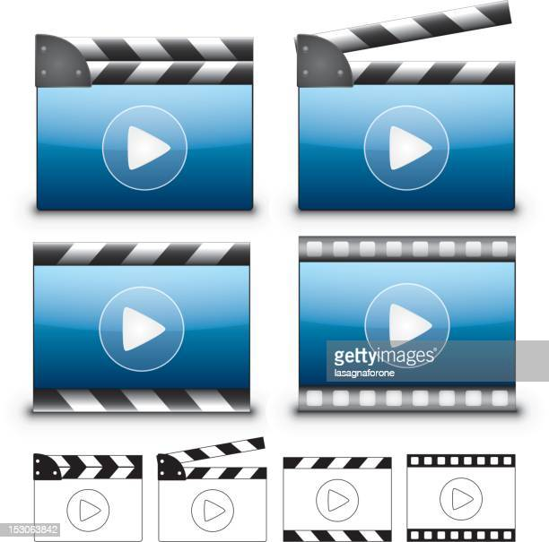 video player collection - film studio stock illustrations, clip art, cartoons, & icons
