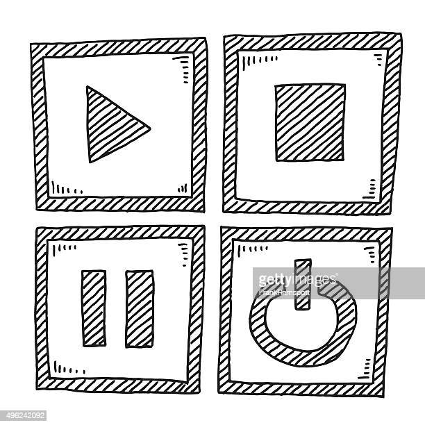 Video Player Elements Drawing