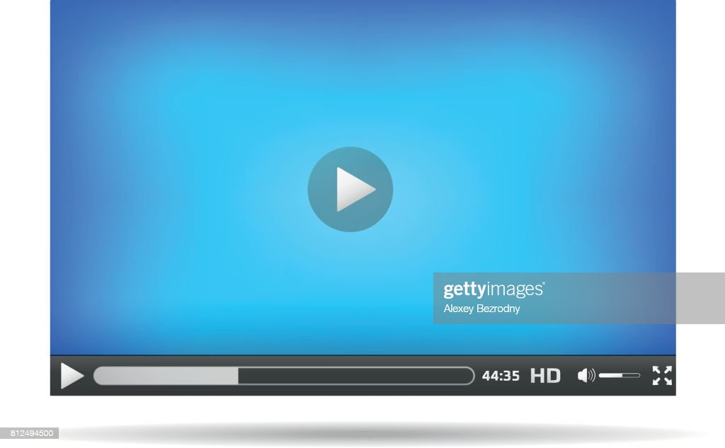 video player interface for website