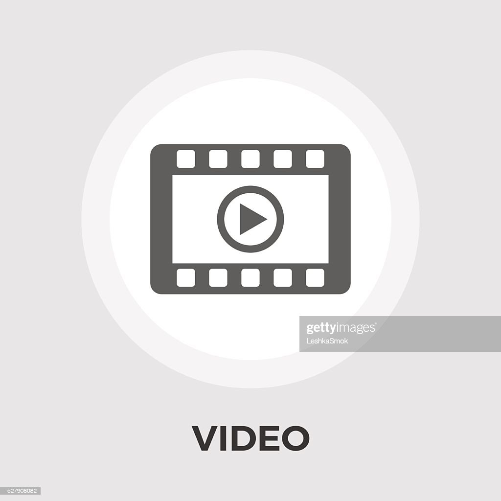 Video player vector flat icon