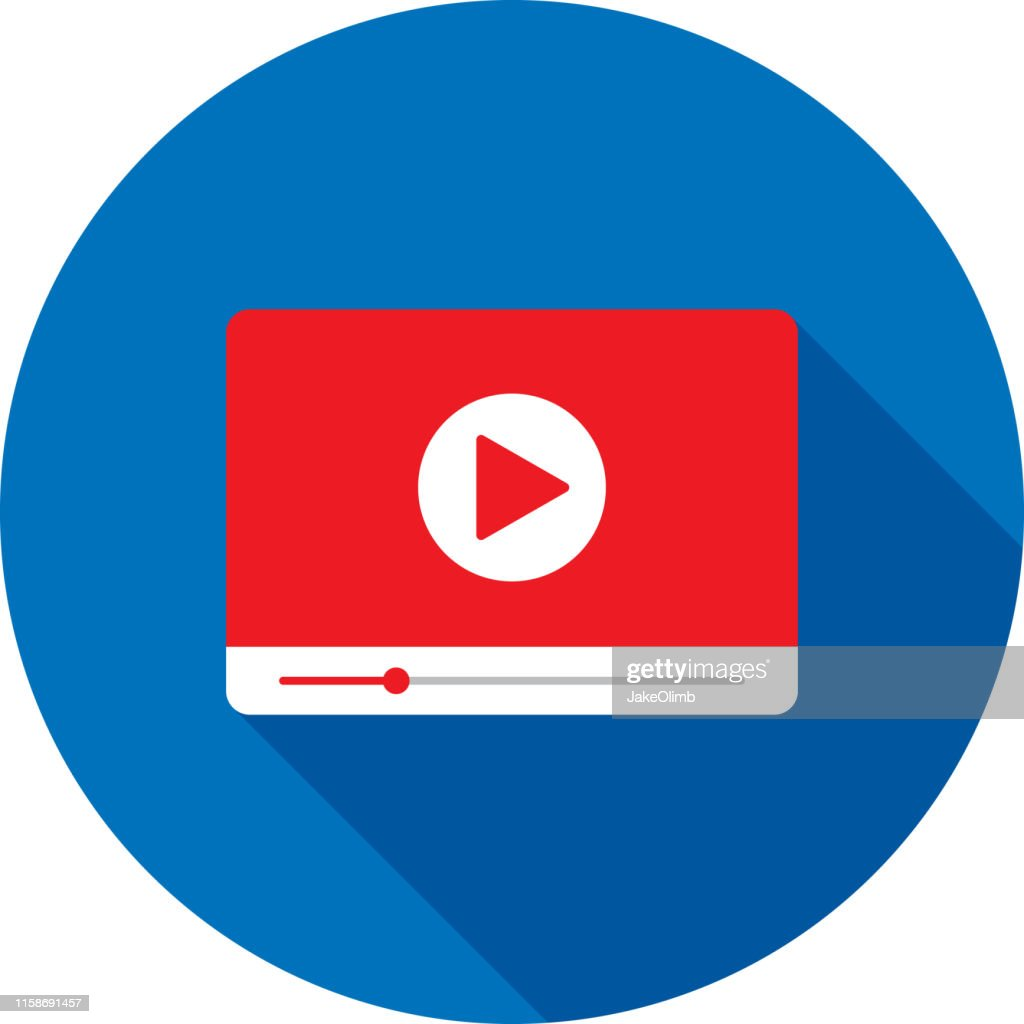 Video Player Widescreen Icon Flat : stock illustration