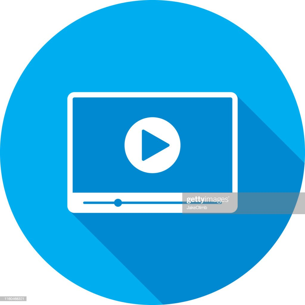 Video Player Widescreen Icon Silhouette : stock illustration