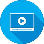 Video Player Widescreen Icon Silhouette