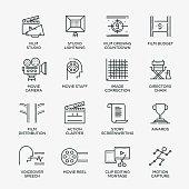 Video Production Icon Set - Line Series