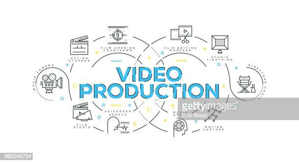 video production modern flat design - producer stock illustrations, clip art, cartoons, & icons