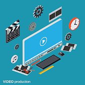 Video production vector concept