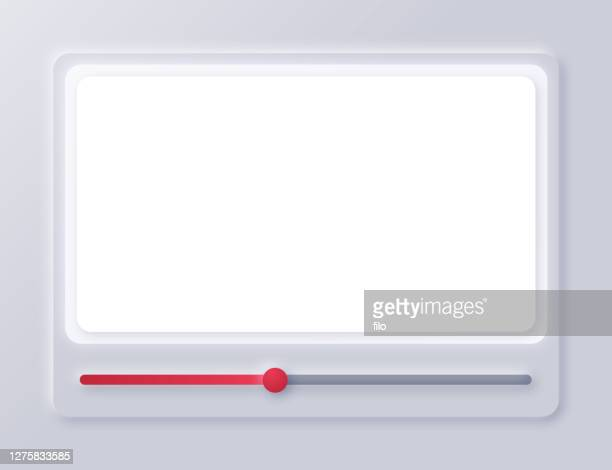 video screen interface playback design - film and television screening stock illustrations