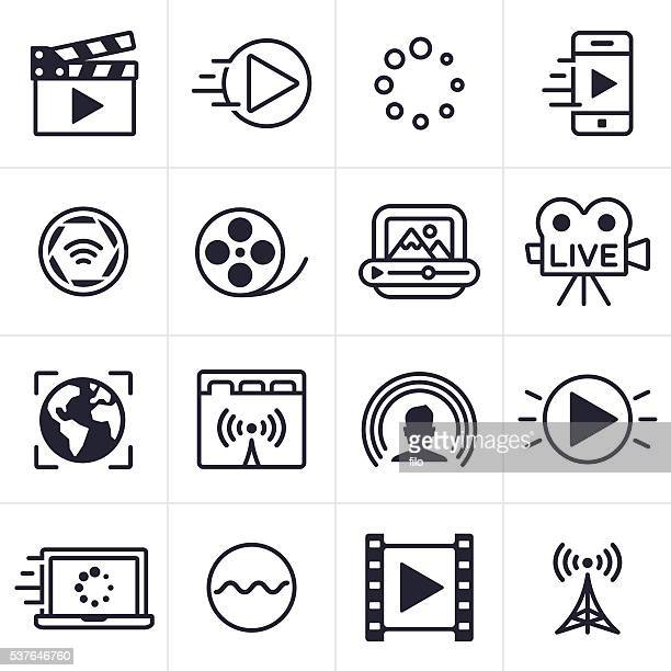 Video-Streaming-Icons und Symbole