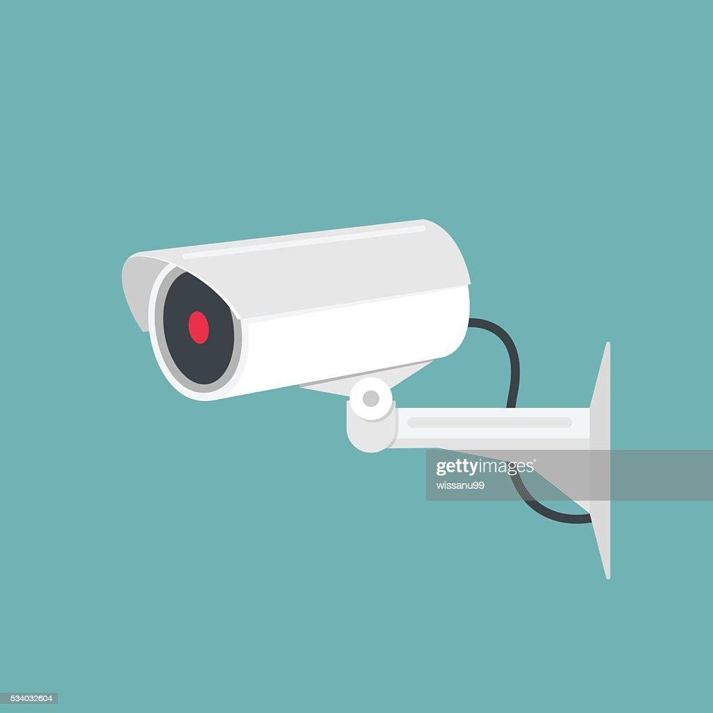 Video surveillance, camera cctv. Vector illustration