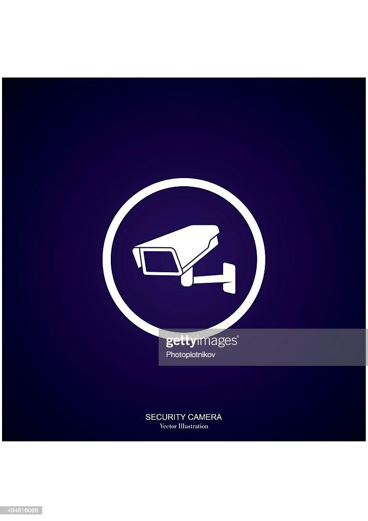 Video Surveillance Security Camera. Vector