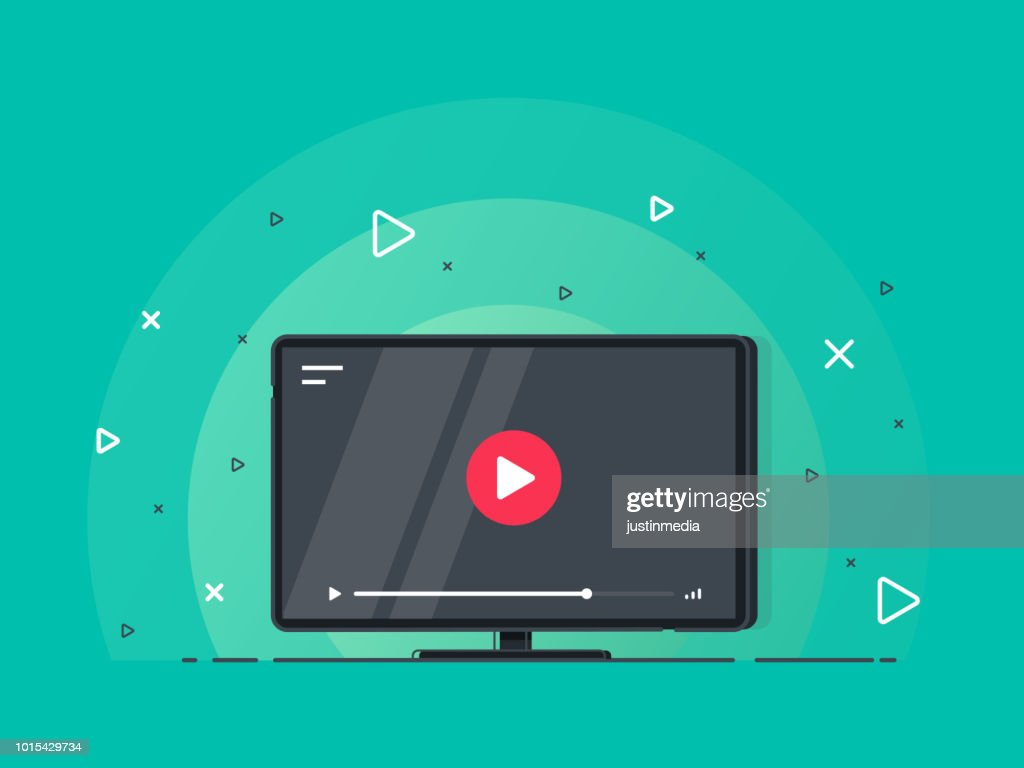 Video tutorials icon concept. Video conference and webinar icon, internet and video services. : stock illustration