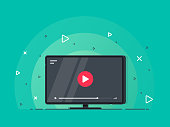 Video tutorials icon concept. Video conference and webinar icon, internet and video services.