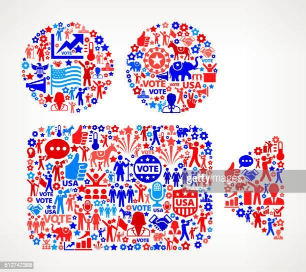 ilustrações, clipart, desenhos animados e ícones de vídeo votação e eleições eua patrióticas ícone padrão - usa