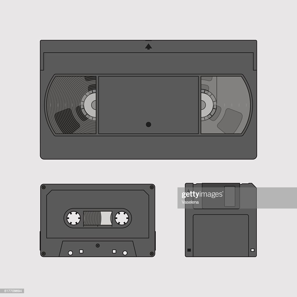 Videocassette, compact cassette and floppy disk