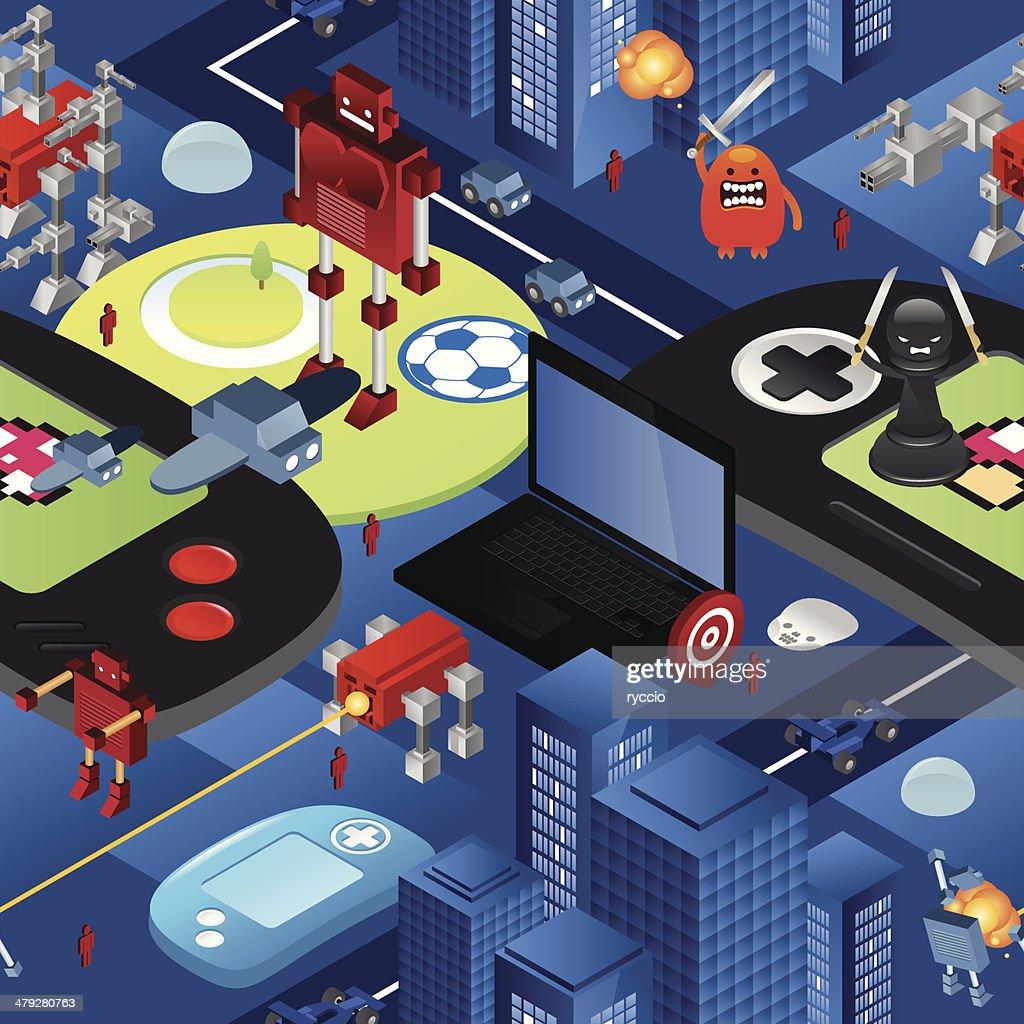 Seamless Texture De Jeux Vidéo Illustration - Getty Images