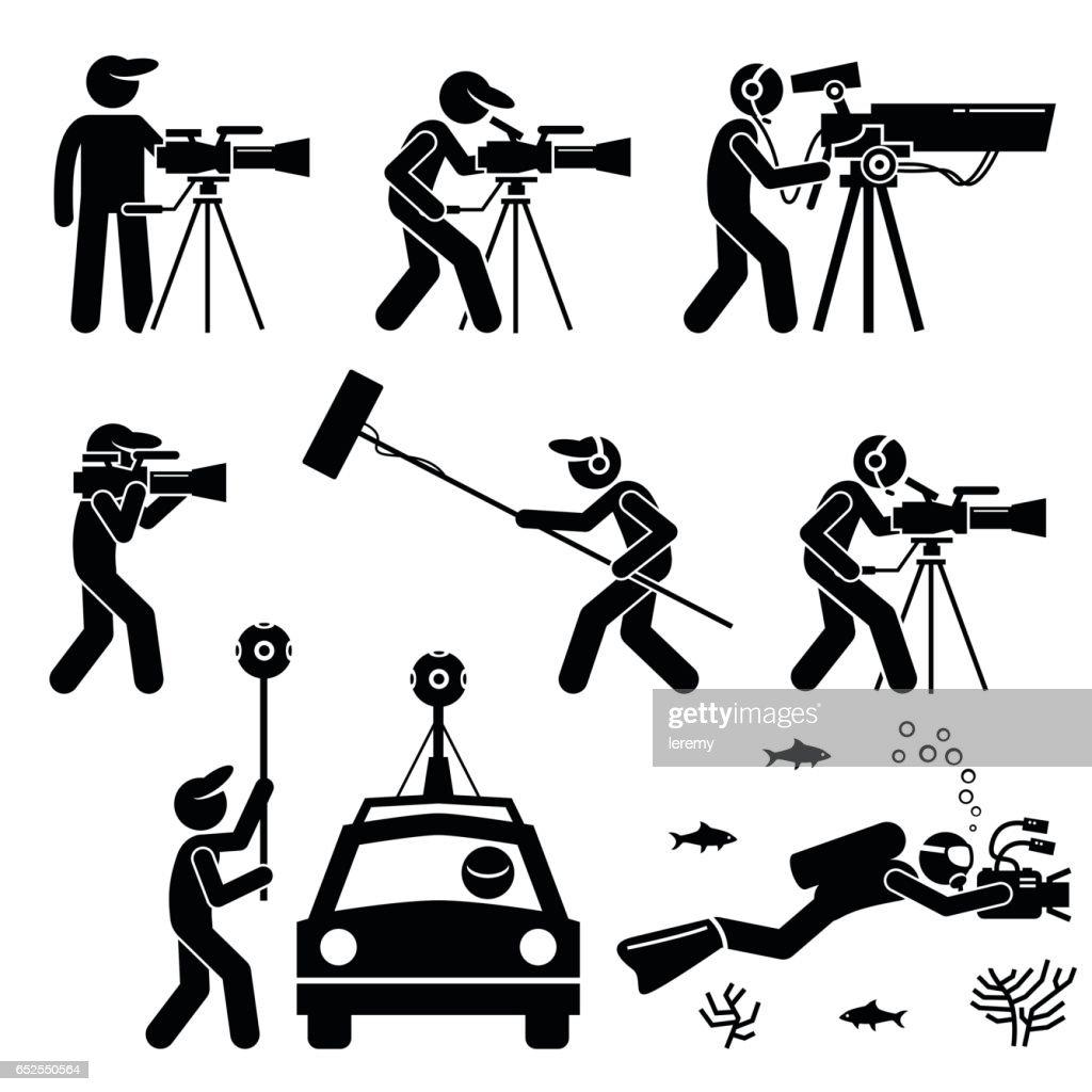 Videographer, Filmmaker, Cinematographer, and Cameraman.