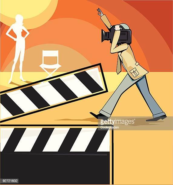videographer - film crew stock illustrations