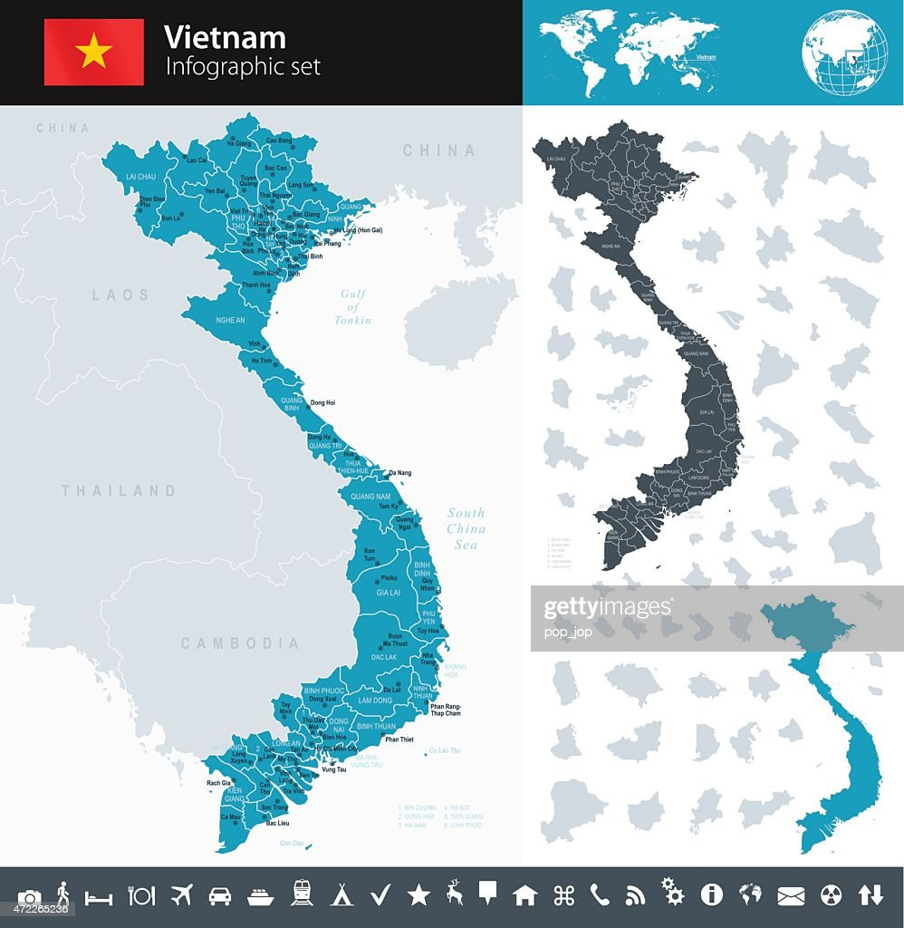 Vietnam - Infographic map - illustration