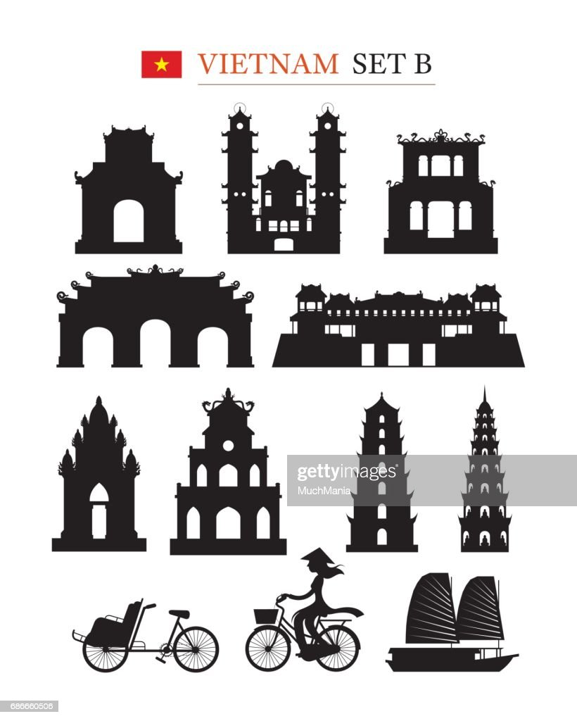 Vietnam Landmarks Architecture Building Object Set