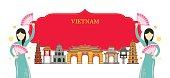 Vietnam Landmarks, Traditional Dance, Frame