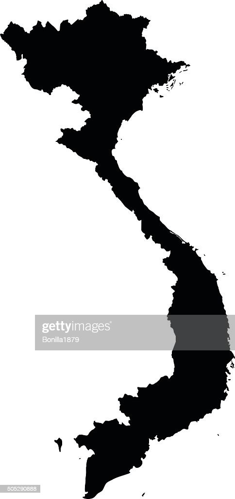 Vietnam map on white background vector