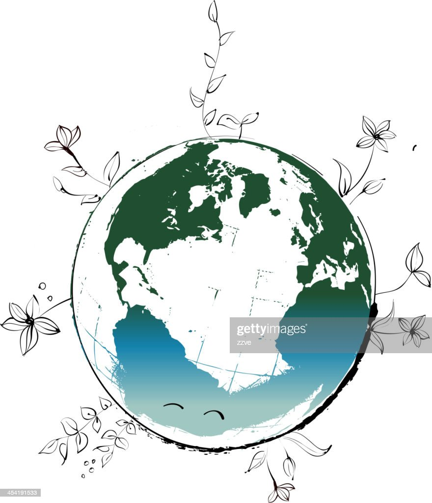 View of earth : Vector Art