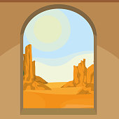 view of the desert from the window