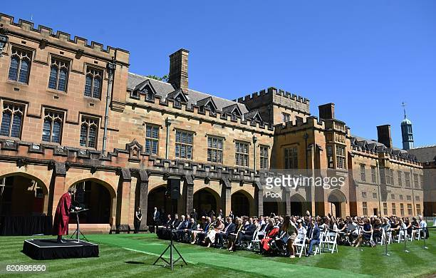 A view of University of Sydney on November 03 2016 in Sydney Australia The Dutch King and Queen are in Australia to commemorate the 400th anniversary...