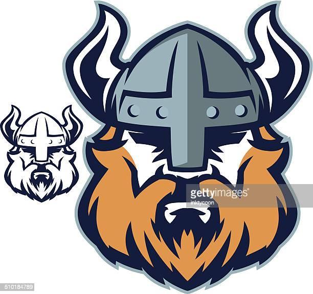 viking head - wikinger stock-grafiken, -clipart, -cartoons und -symbole