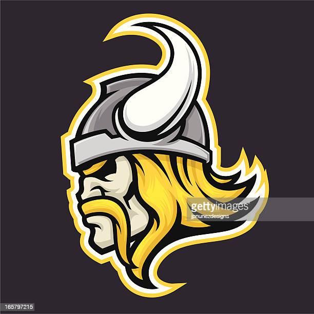 Viking illustration on black background