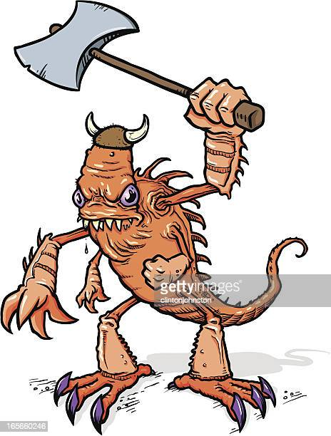 viking monster - animal saliva stock illustrations, clip art, cartoons, & icons