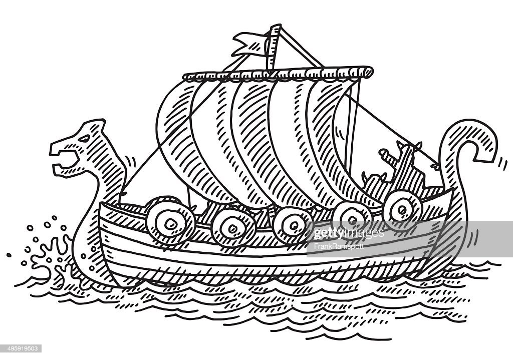 Viking Ship Drawing High-Res Vector Graphic - Getty Images
