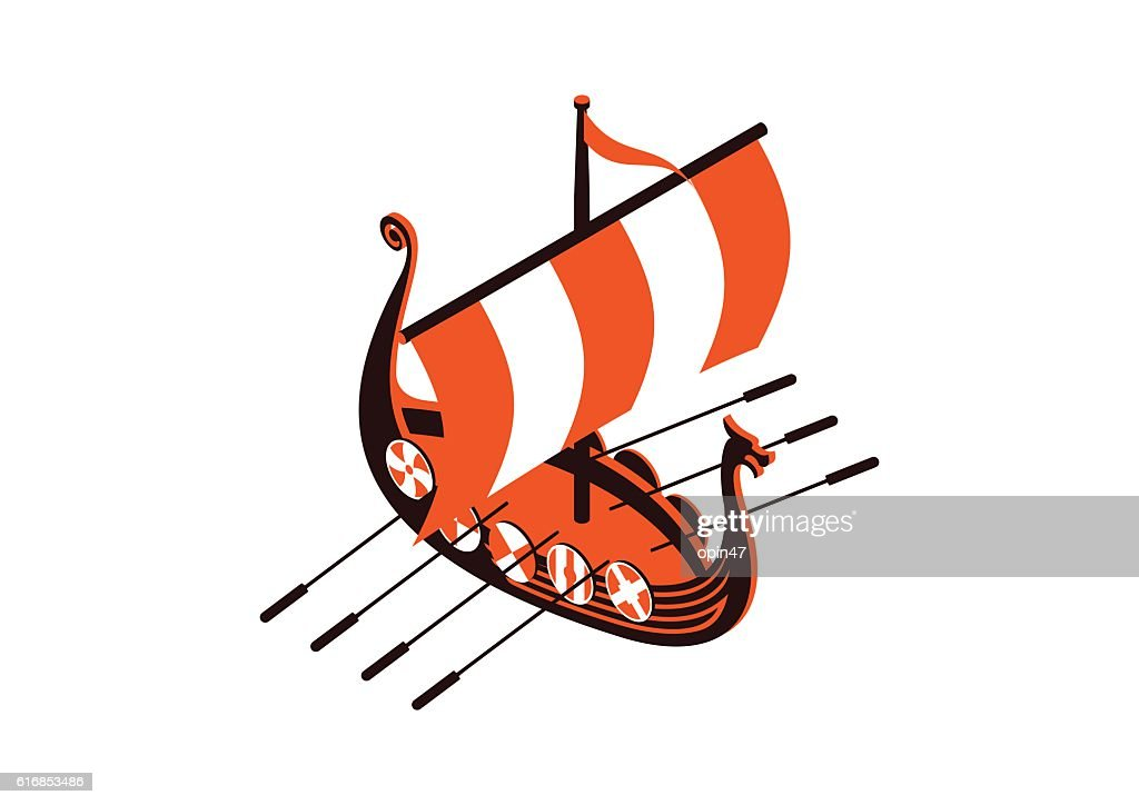 viking ship : Vector Art