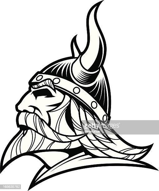 Viking Warrior Head B&W II