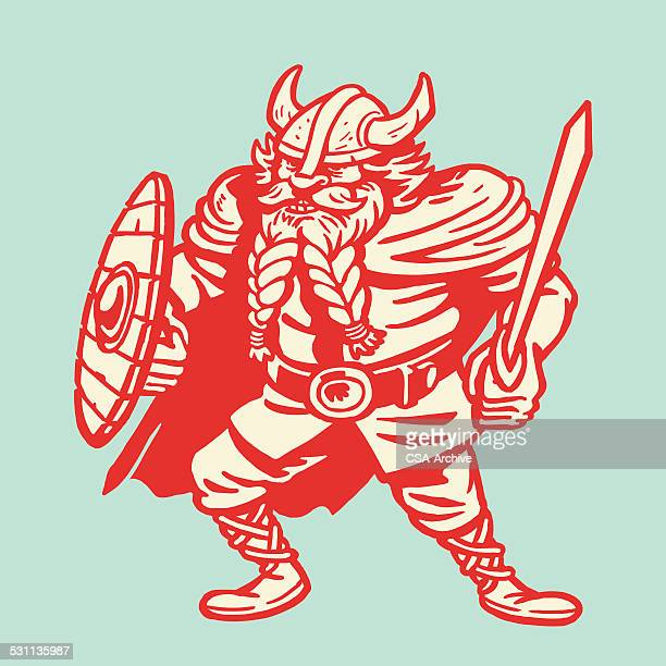 viking warrior - masculinity stock illustrations, clip art, cartoons, & icons