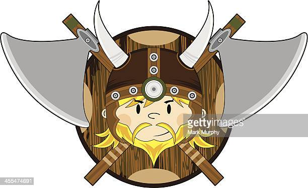 Viking Warrior WIth Crossed Axes