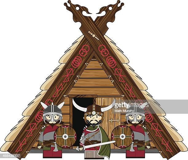 Viking Warriors & Thatched Roof Hut